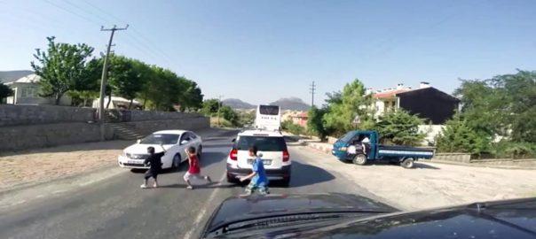 Accident rutier cu copii