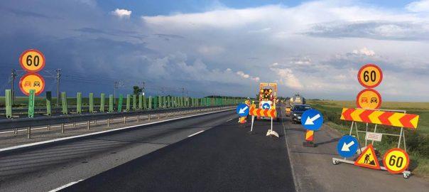 Reparatii pe Autostrada Soarelui